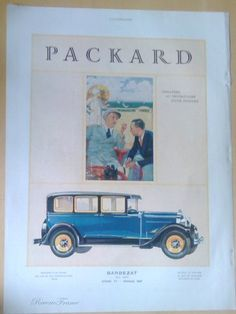 Art Deco Vintage French Ad Packard Automobile by reveriefrance