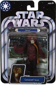 Star Wars Original Trilogy Collection Yarua Action Figure by Hasbro. $8.99. hard to find. rare. out of production. Star Wars - Original Trilogy Collection Yarua (Coruscant Senate) NIP Action Figure from the 2004 toy series. (with Bandolier, Base) Yarua is a Wookiee senator on Coruscant. He represents his home world of Kashyyyk in the Galactic Senate. Although Wookiees are known for their strong tempers, Yarua is a voice of fairness and justice in the government. Like al...