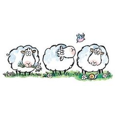 ❤Sheep and Bluebird ~ Penny Black Animal Drawings, Cute Drawings, Penny Black Karten, Sheep Art, Doodles, Penny Black Stamps, Sheep And Lamb, Cute Clipart, Watercolor Cards