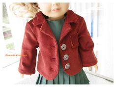 American Girl Doll 18 Inch Rust Corduroy by BonJeanCreations, $21.49