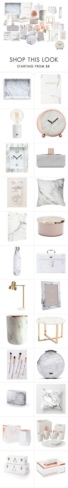 """marble rose gold"" by alilaforce on Polyvore featuring interior, interiors, interior design, home, home decor, interior decorating, A by Amara, Chaney, Native Union and Urban Outfitters"
