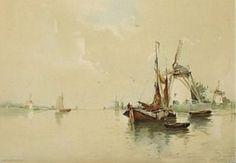 Henri Cassiers - Bateaux près du rivage #1