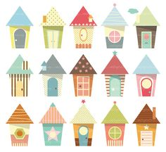 Baby Houses Clip Art - high resolution