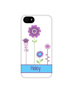 Purple flowers personalized iphone case @EpigramCases #iPhone6case #GalaxyS5case