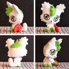 pokemon lps customs   Shaymin Sky Forme inspired LPS custom by pia-chu