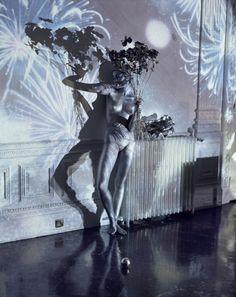 Silver Girl & Silver Bouquet by Tim Walker