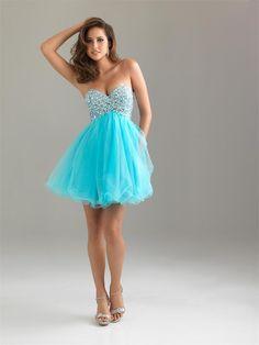 vestidos de graduacion cortos azul turquesa - aVestidos.com