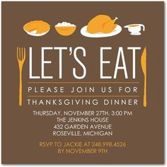 Ideas For Thanksgiving Invitations | Thanksgiving Invitations