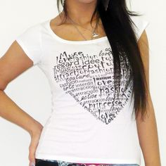 HEART :WOMEN'S T-SHIRT SHORT-SLEEVE ONE IN THE CITY