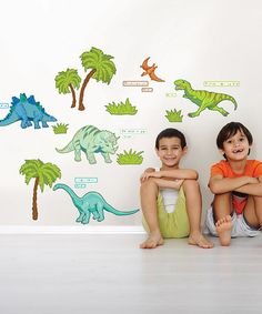 Take a look at this Dinosaur Expedition Wall Decal Set by WallPops! on #zulily today! $19.99