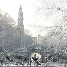 Frosty Amsterdam by B℮n, via Flickr