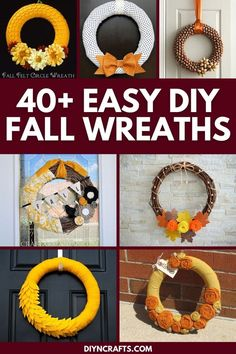 40+ amazing DIY Fall wreaths that are ideal for decorating your front door or add to your Thanksgiving decor! Easy DIY wreath ideas! This list includes tons of incredible hand made wreaths that add beauty to your front door. #Wreaths #Fall #FallWreaths #FallDecor #Thanksgiving #FrontPorch #HomeDecor #Autumn #AutumnDecor Diy Fall Wreath, Fall Wreaths, Wreath Ideas, Door Wreaths, Diy Craft Projects, Crafts For Kids, Diy Crafts, Christmas Lanterns, Create And Craft