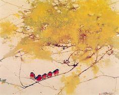 "Photo from album ""Lin Shun"" on Yandex. Watercolor Bird, Watercolor Illustration, Watercolor Paintings, Japan Painting, Painting & Drawing, Art Chinois, Art Asiatique, Art Japonais, China Art"