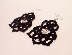 Boucles d'oreilles fantaisie en coton et perles de rocailles - Modèle Sophia : Boucles d'oreille par atelier-frivole