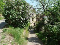 Vista de uno de los rincones de Auvers-sur-Oise que fue motivo de una de las obras de Cézanne. El artista vivió una temporada en esta localidad cercana a Pontoise para poder visitar a Pissarro #caminarconCezanne