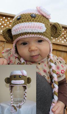 Chica the Monkey Animal Hats, Crochet For Kids, Monkey, Custom Design, Infant, Crochet Hats, Children, Handmade, Animals