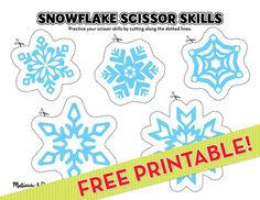 Scissor crafts are a great pre-writing skill builder as they lay the groundwork for proper pencil grip. After cutting out the snowflakes, the kids can decorate them or create a snowy scene indoors! Winter Activities, Christmas Activities, Preschool Activities, Preschool Winter, Winter Fun, Winter Theme, Cutting Activities, Easy Coloring Pages, Scissor Skills