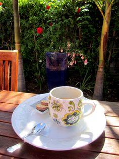 Morning tea in the backyard