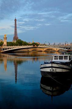 Eiffel Tower from the Seine, Paris