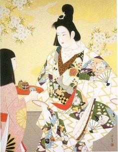 Shinsui Ito: 伊東深水「吉野太夫」