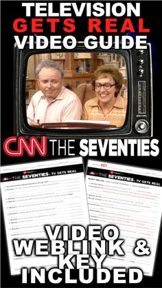 The Seventies: Television Gets Real from CNN Video Guide & Video Links History Lesson Plans, Social Studies Lesson Plans, World History Lessons, Teaching Social Studies, Teaching American History, American History Lessons, Teaching History, Teaching Government, Real Video
