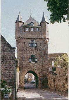 De Dijkpoort van buiteaf bekeken met nog een stukje stadsmuur in #hattem #netherlands