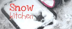 Using kitchen items in the snow