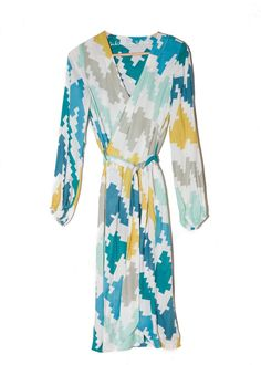 Flora Robe in Blue Diagonal design by Sabine   Sailor