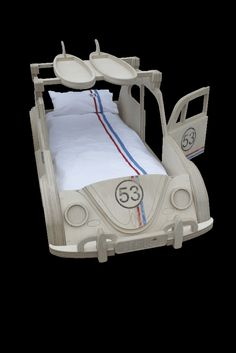 "VW ""Herbie"" Beetle Theme Bed by Fun Furniture Collection, Home of Themed Childrens Beds,Toy Boxes and Storage"