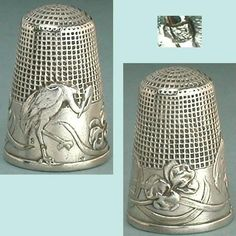 Antique French Silver Stork Irises Thimble w Waffle Knurling Circa 1900s | eBay Aug 06, 2013 / US $300.00 / 9,858.69 RUB