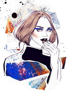Blue Eyeliner / Graffiti / Street Art | Hair & Makeup Trends - Soleil Ignacio Illustrations