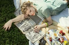 Paper Mothball Vintage, Paper Mothball Vintage, vintage picnic in central park, 1940s, vintage hair, pinup, editorial: