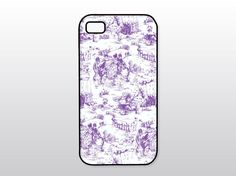 Purple Toile iPhone Case - French Country iPhone 4 Case, iPhone 5 Case