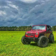 Reposting @deputydumplin_93: ... Look at that sky...what sky? Look at that jeep!!