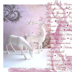 Dekocollage : nostalgische Weihnacht : retro christmas Bambi 3, Collage, Deer, Blog, Christmas, Home Decor, Country Living, Travel Report, Xmas