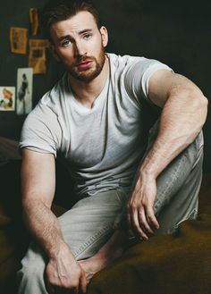 chris evans....this is one reason why I love captain America XD lol
