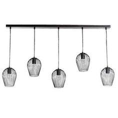 Hanglamp Lagos - mat zwart - 5 lampen