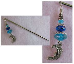 Silver & Crystals Celtic Moon Charm Beaded Hair Stick  http://cgi.ebay.com/ws/eBayISAPI.dll?ViewItem=160957487626