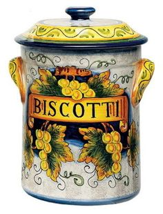 ''Biscotti'' jar