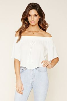 Contemporary Smocked Crop Top