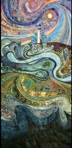 Finished piece of embroidery.& beyond the sea& by Rachel Wright. Finished piece of embroidery.somewhere, beyond the sea by Rachel Wright. Creation Art, Inspiration Art, Art Populaire, Thread Painting, Thread Art, Wow Art, Textile Artists, Embroidery Art, Fabric Art