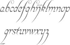 Image result for lord of the rings font alphabet