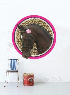 Muursticker paard verkrijgbaar bij www.knuss.nl