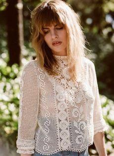 Crochet Tunic, Thread Crochet, Filet Crochet, Irish Crochet, Crochet Clothes, Crochet Lace, Linens And Lace, Crochet Fashion, Vintage Crochet