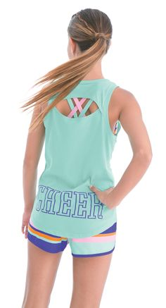 This trending style features an oval open back cut-out design and a lower lettering style. This top is perfect for showing off a matching fun new cross-strap sports bra top. Football Cheer, Cheer Camp, Cheer Coaches, Cheer Dance, Kentucky Basketball, Sports Basketball, Duke Basketball, Kentucky Wildcats, College Basketball