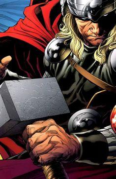 Thor by joe quesada comic gawds тор, комиксы, мстители Marvel Comics, Films Marvel, Marvel Art, Marvel Heroes, Thor Marvel, Comic Book Characters, Comic Book Heroes, Marvel Characters, Comic Character