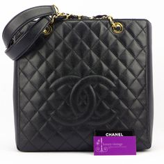 #CHANEL PST XL Black Colour Caviar With Gold Hardware Good Condition ref.code-(KCRY-1) for more information or price pls do not hesitate to enquire at our email-luxuryvintagekl@gmail.com