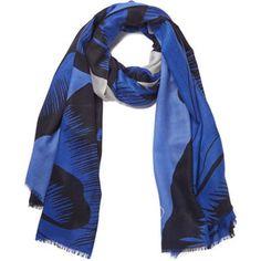 De Diane von Furstenberg Mulheres Kenley Poppy Cashmere Scarf - Azul