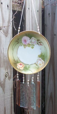 Vintage Bavarian Hand Painted Dish Wind Chime  by hunter5220
