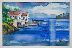 Coastal Landscapes (watercolors) on Behance 4 Watercolor Landscape, Painting & Drawing, Watercolors, Coastal, Landscapes, Behance, Fine Art, Drawings, Paisajes